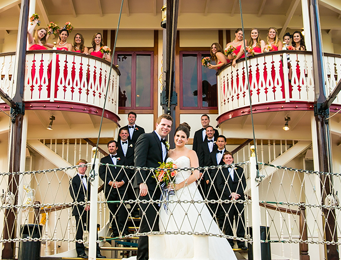 Wedding Party aboard William D Evans