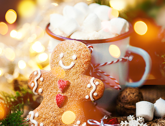 Treat yourself to hot cocoa and cookies at the Bahia Resort Hotel in Mission Bay, San Diego on your San Diego Winter Vacation