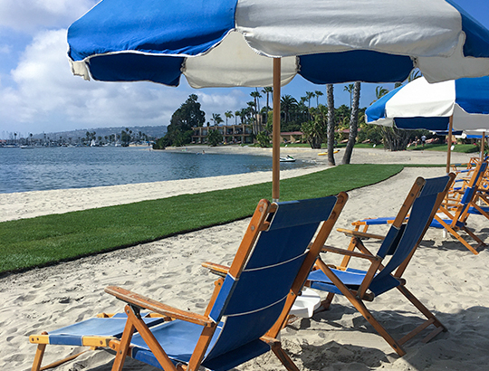 Private Beach Lounge Area overlooking Mission Bay