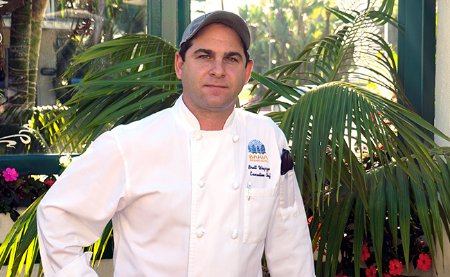 Chef Brett from Cafe Bahia on Mission Bay