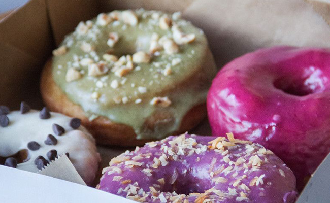 Box of donuts from Nomads